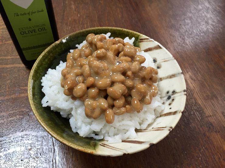 オリーブオイル納豆食べる